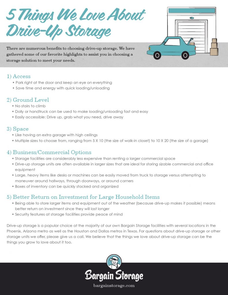 5 benefits of drive-up storage checklist