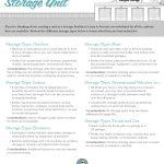 choosing self storage unit